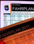 Online und auf Papier wird der Fahrplan 2011 verteilt