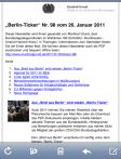 Der neue Büro-Newsletter auf dem iPhone