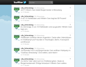 Streemline auf Twitter am 11. September 2011