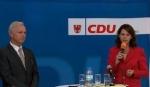 Gedankenaustausch in Brieselang: Der CDU-Vorstand sprach mit Generalsekretär Dieter Dombrowski und Landesvorsitzender Saskia Ludwig (Archivfoto CDU Brandenburg)