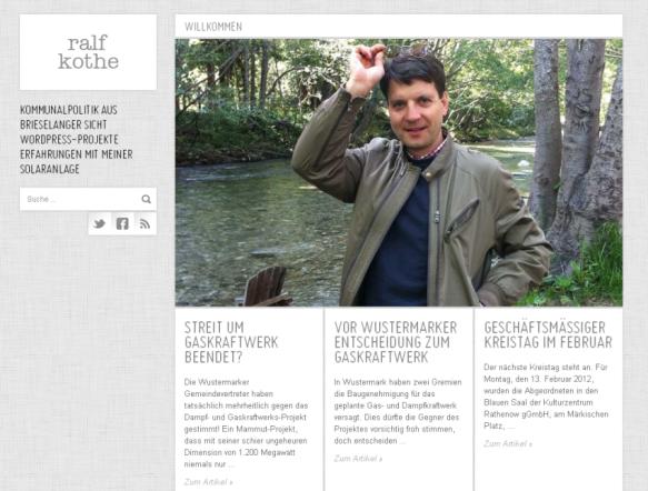 Neue Homepage unter www.ralf-kothe.de